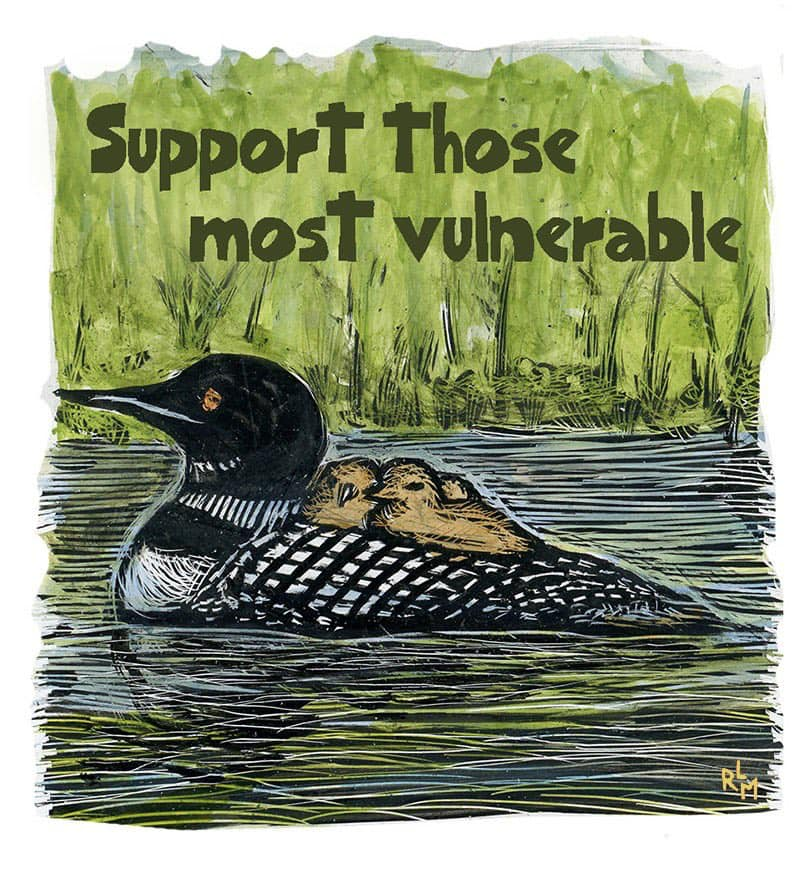 Duck says: Support those most vulnerable